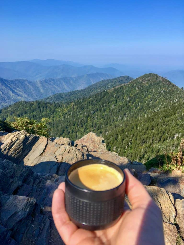 Coffee at the Top of Mt LeConte