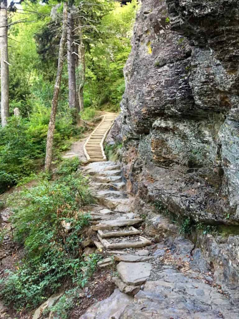 Stairs Along the Alum Cave Trail