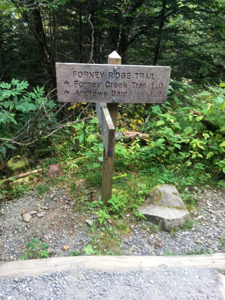 Forney Ridge Trail Sign
