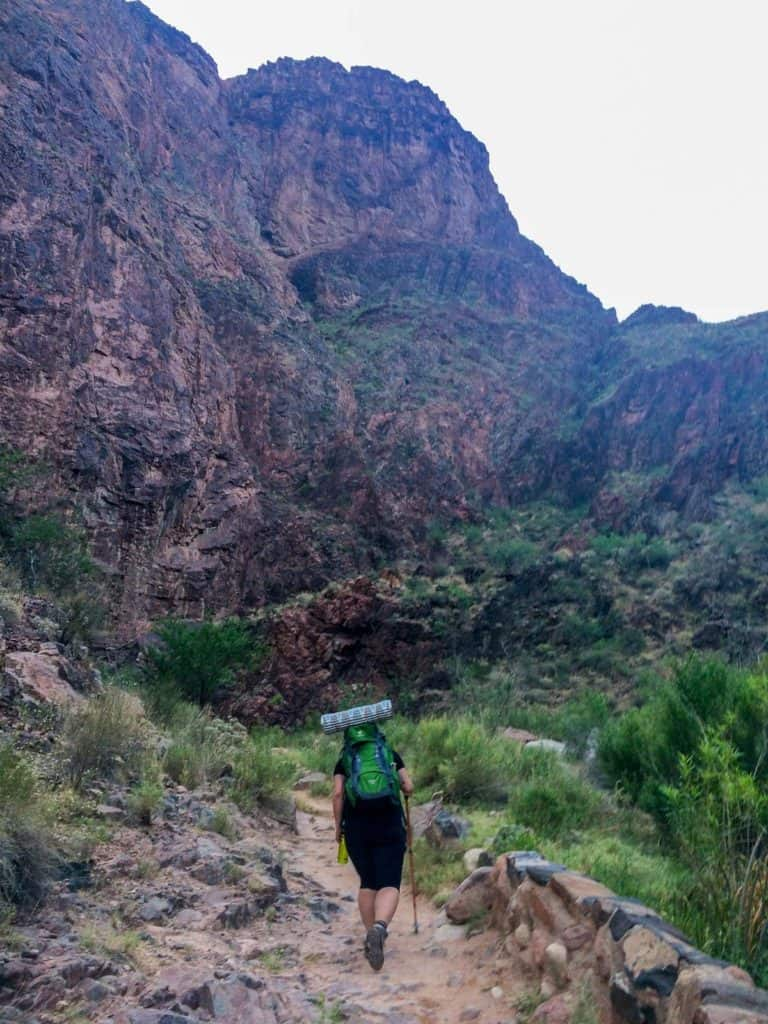 Hiking out of the Grand Canyon
