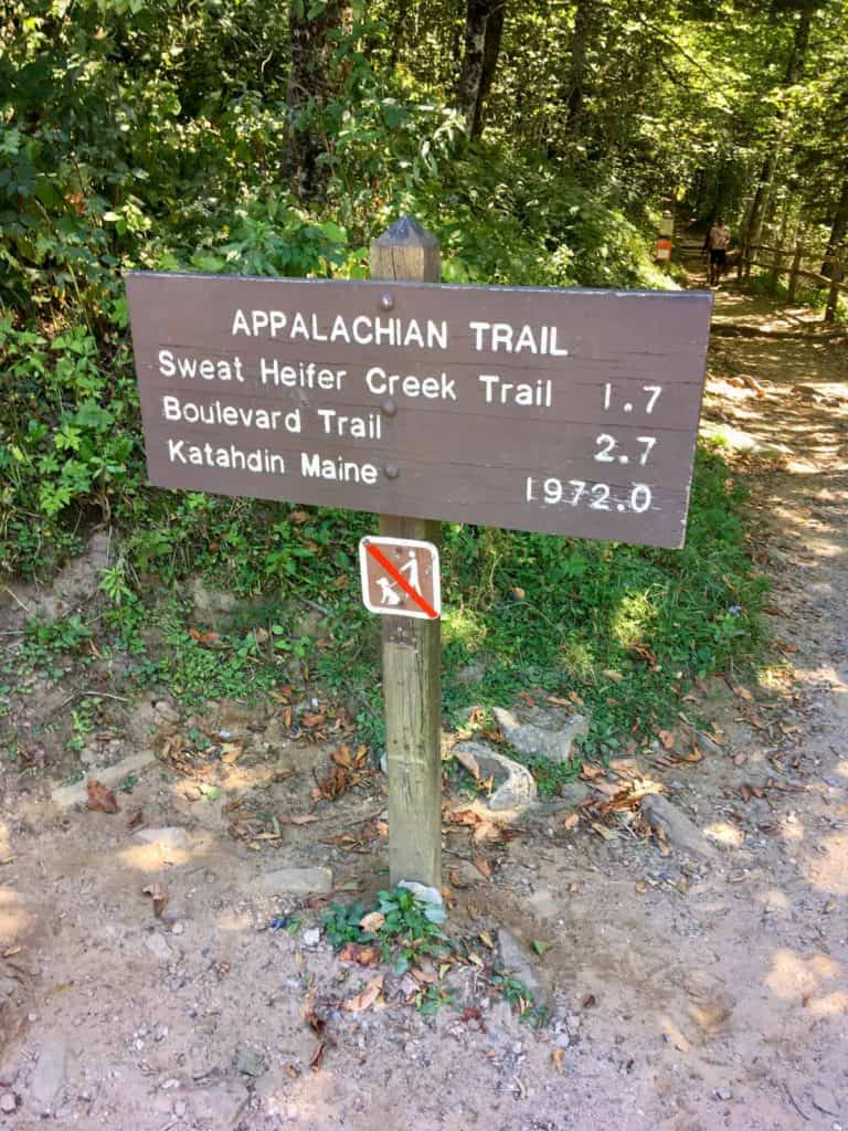 Trailhead Sign - Start Here for Charlies Bunion