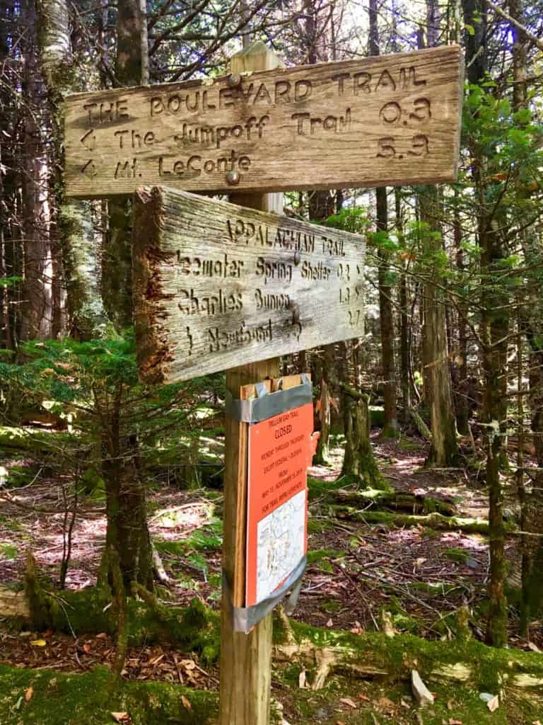 Trail Sign for the Jump Off
