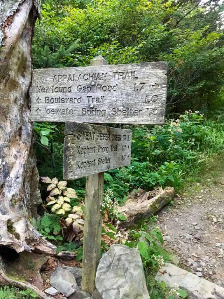Appalachian Trail Sign- Head Towards Icewater Springs
