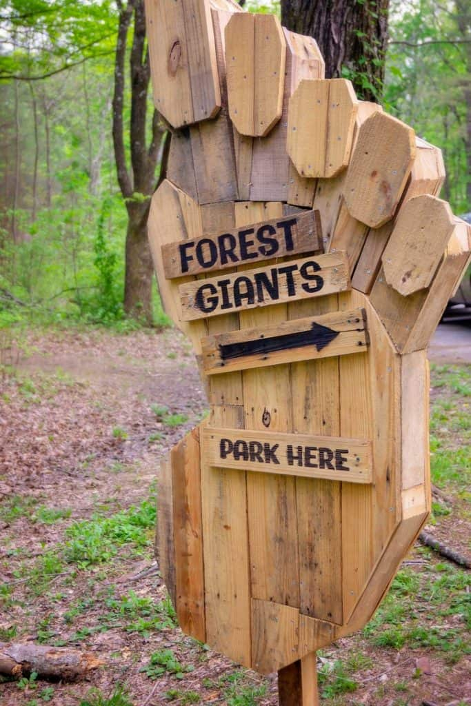 forest giant parking sign