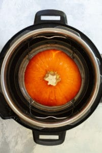 Place the Sugar Pumpkin in the Instant Pot