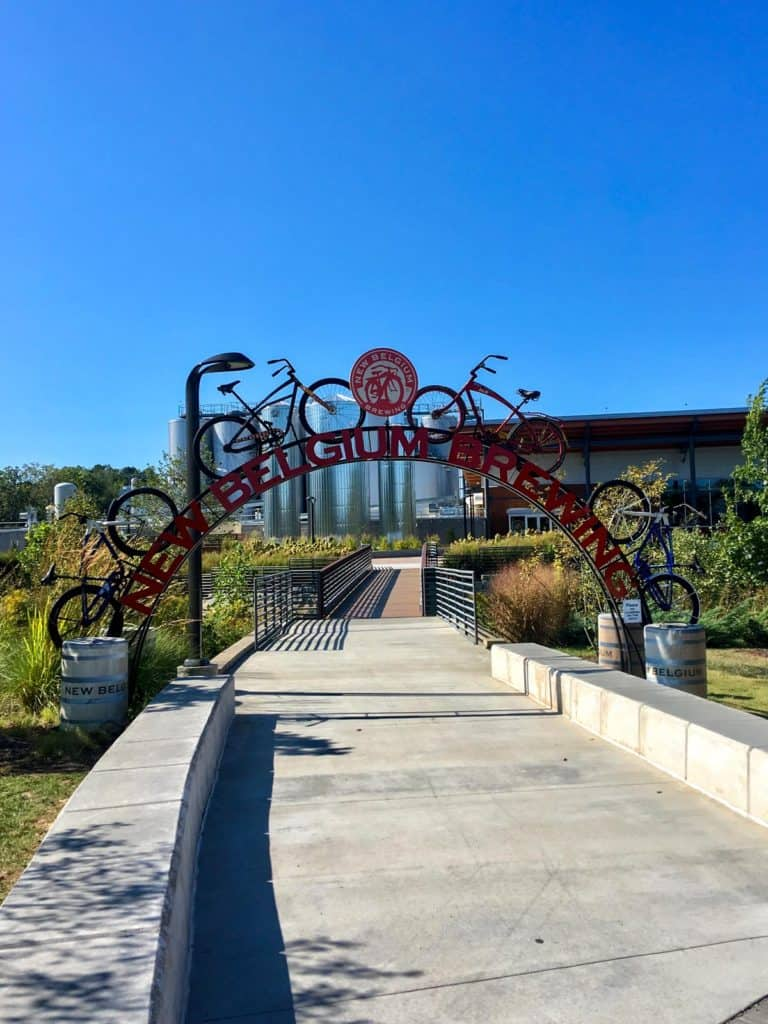 view of the new belgium brewery
