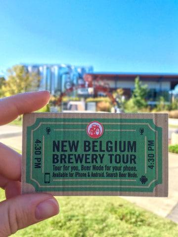 new belgium brewery tour ticket