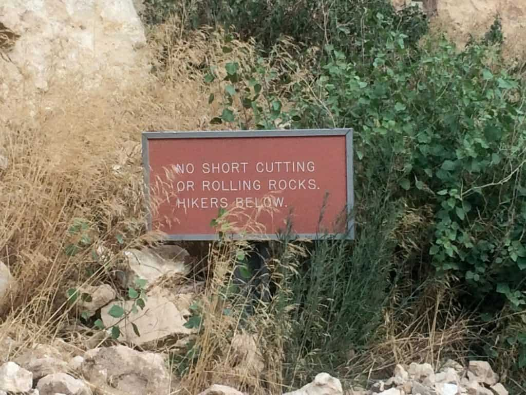 Signs in the Grand Canyon