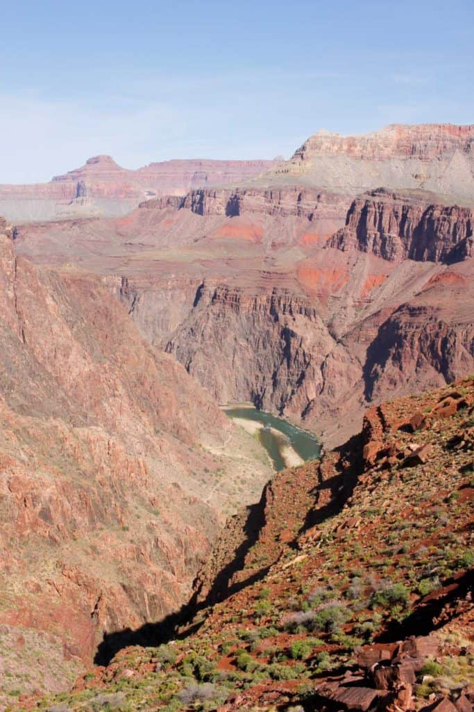 View of the Colorado River from the South Kaibab Trail