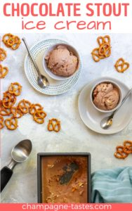This rich and creamy beer ice cream is inspired by Häagen-Dazs'® stout chocolate pretzel ice cream. It's a perfect Game Day dessert!