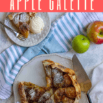 Love apple pie? This apple galette is made with spiced brown butter and is an easy and delicious make-ahead dessert.