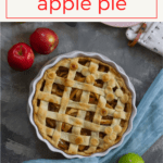 (ad) The secret to the perfect vegan apple pie? Cook the apples before baking! This delicious pie is a plant-based twist on the classic dessert.