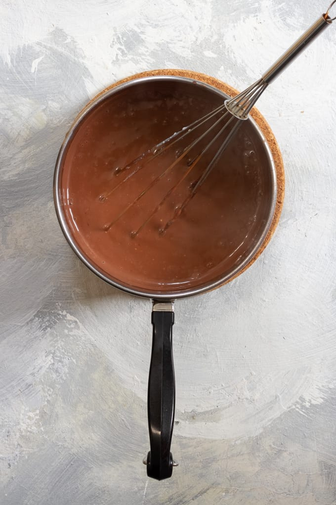 Whisk the chocolate into the ice cream base