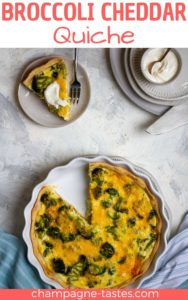This broccoli cheddar quiche uses eggs, steamed broccoli, and cheddar cheese, and is easy to make ahead of time for a flavor-packed breakfast or brunch.