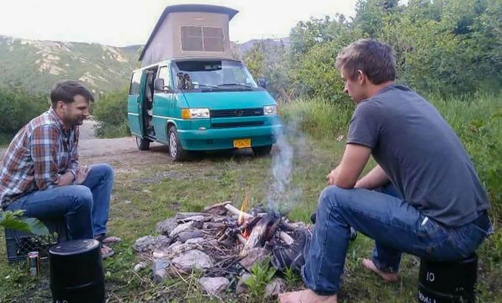 camping with a van