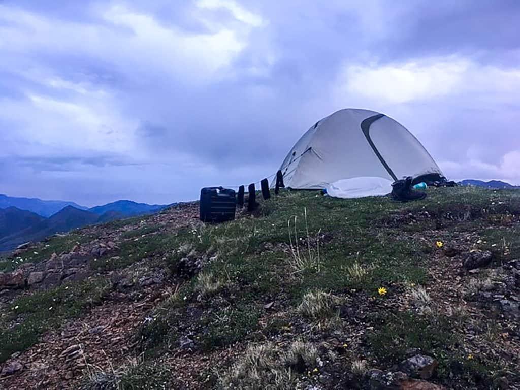 tent in alaska