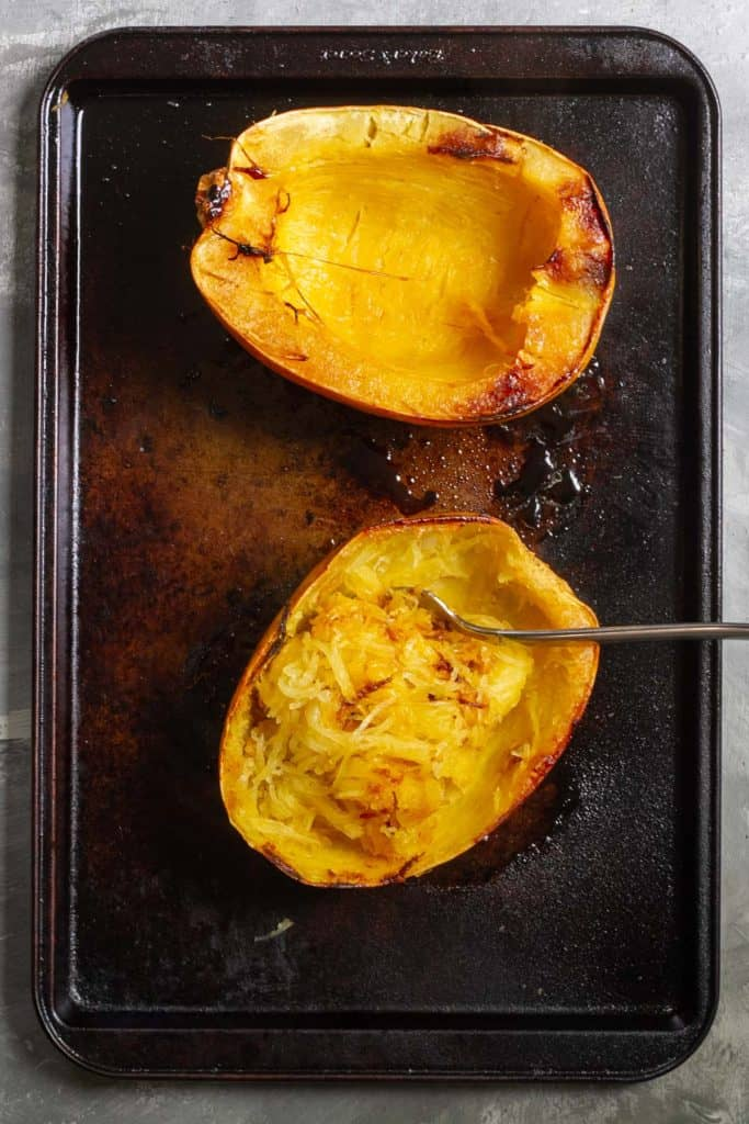 Scrape the Spaghetti Squash Strands with a Fork