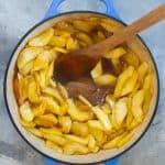 Add juice + cornstarch, simmer until thickened