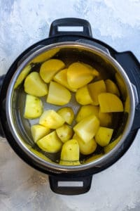 Add Potatoes + Water to the Instant Pot