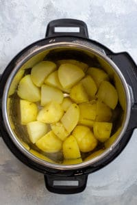 Pressure Cook Potatoes Until Tender