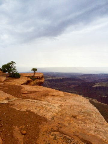 Hiking on Grand View Point Trail at Canyonlands National Park