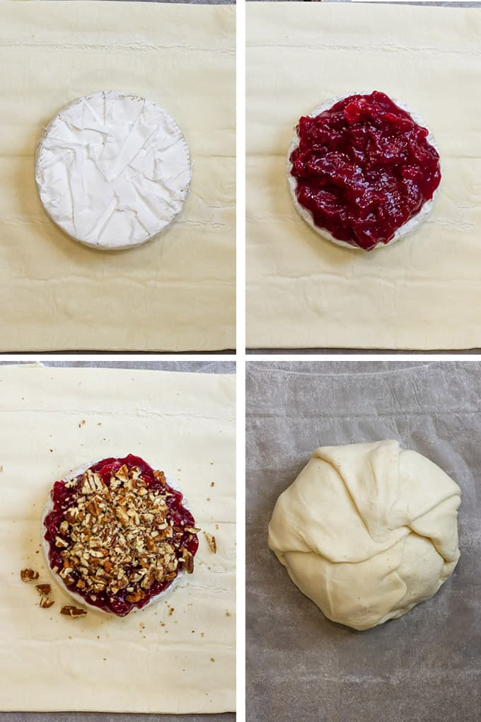 How to Make Cranberry Baked Brie