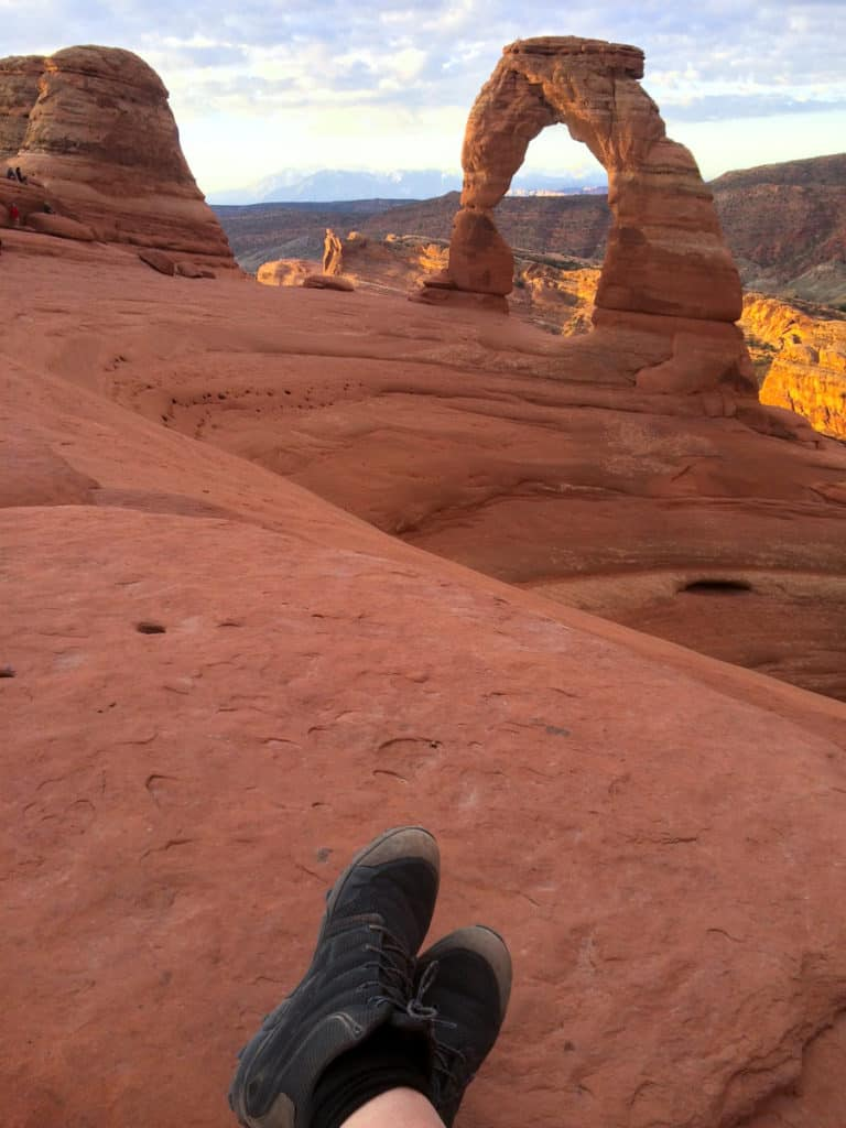 Watching the Sun Rise at Delicate Arch