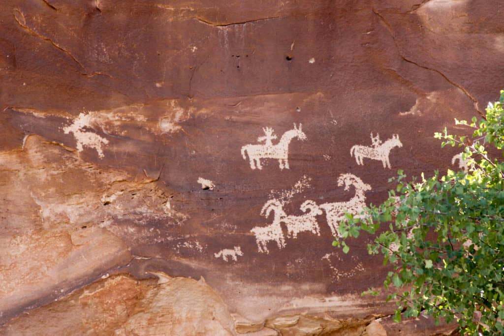 Ute Panel (Wolfe Ranch Petroglyphs)