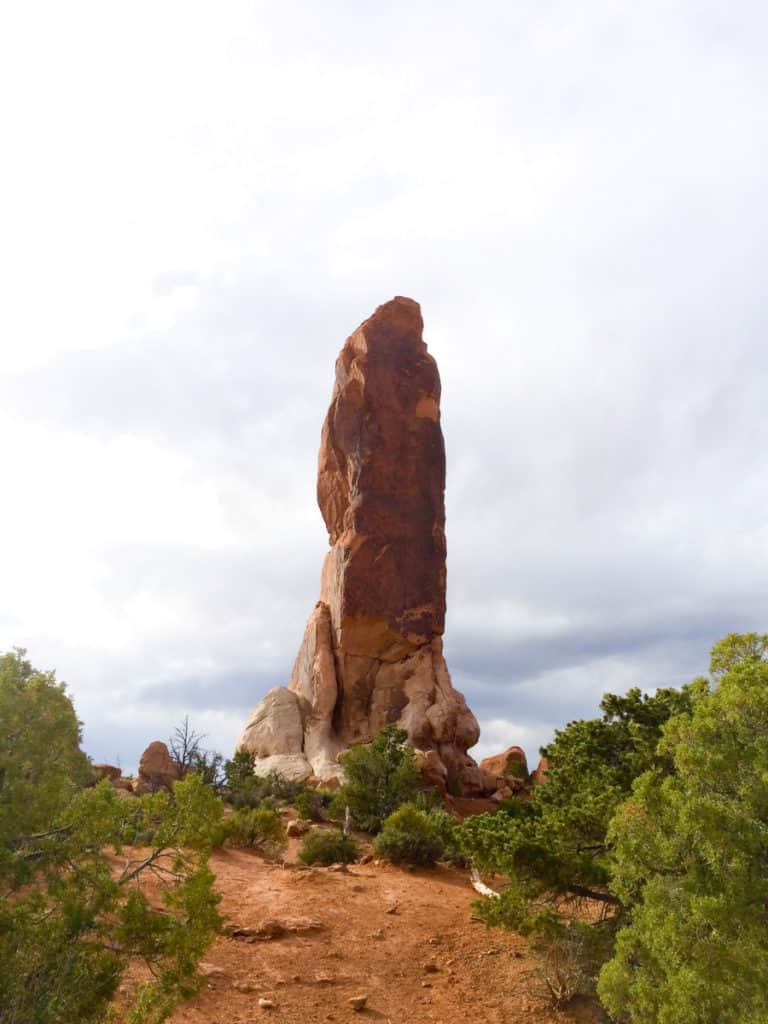 Dark Angel Rock in Arches