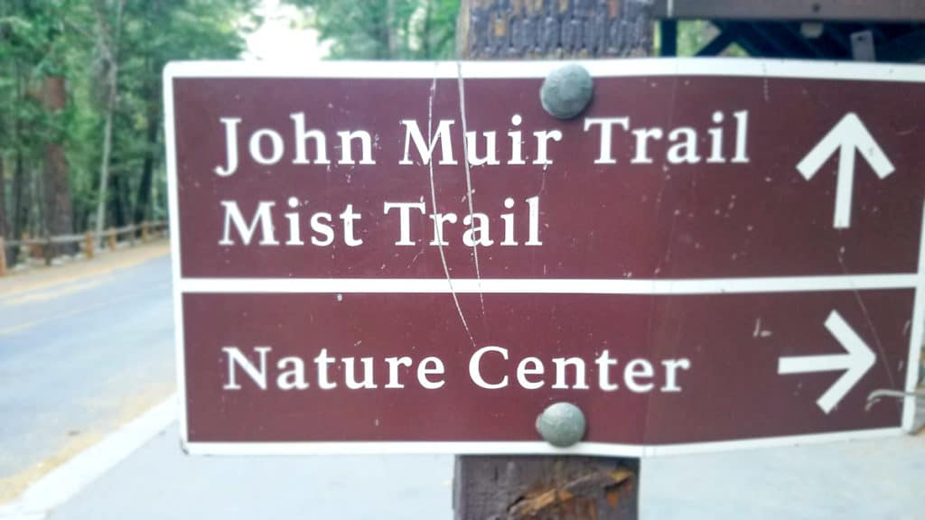 Road Sign for the John Muir Trail