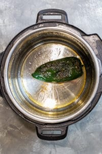 Blister the Poblano Pepper