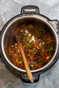 Sauté the Onion, Peppers + Spices
