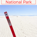 Are you planning to hike at White Sands National Park?  Here's what to expect, and a few tips for hiking the sand dunes!