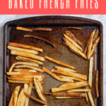 Do you love French fries, but want a healthier alternative? These crispy oven fries are easy to prepare, and there's no frying required! Serve them with the spicy yogurt sauce, ketchup, or your favorite dip.