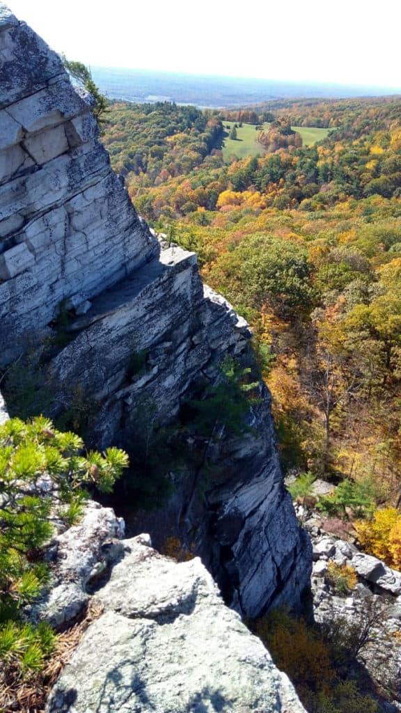 The rock scramble up Bonticou Crag