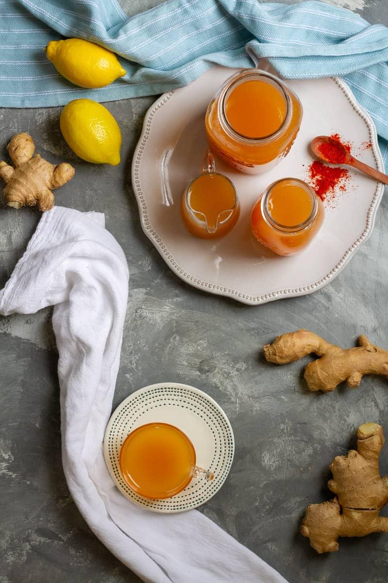 lemon ginger wellness shot