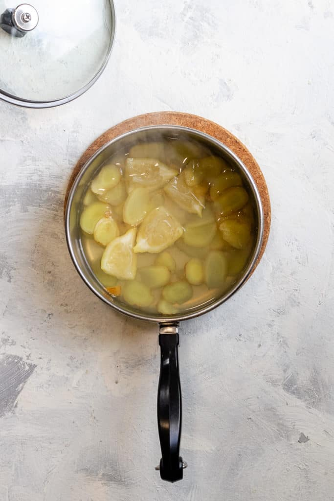 Simmer the ginger + lemon