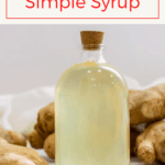 This easy ginger simple uses fresh ginger and lemon (or lime!) to create a spicy sweet syrup.  It's perfect for ginger ale and cocktails!