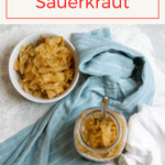 Love sauerkraut? Try lacto-fermenting your own homemade sauerkraut! All you need is cabbage, salt, a glass jar, and a little time.