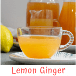 This easy lemon ginger shot is made with fresh ginger and lemons. Add a little cayenne pepper for a wellness shot with an extra kick!