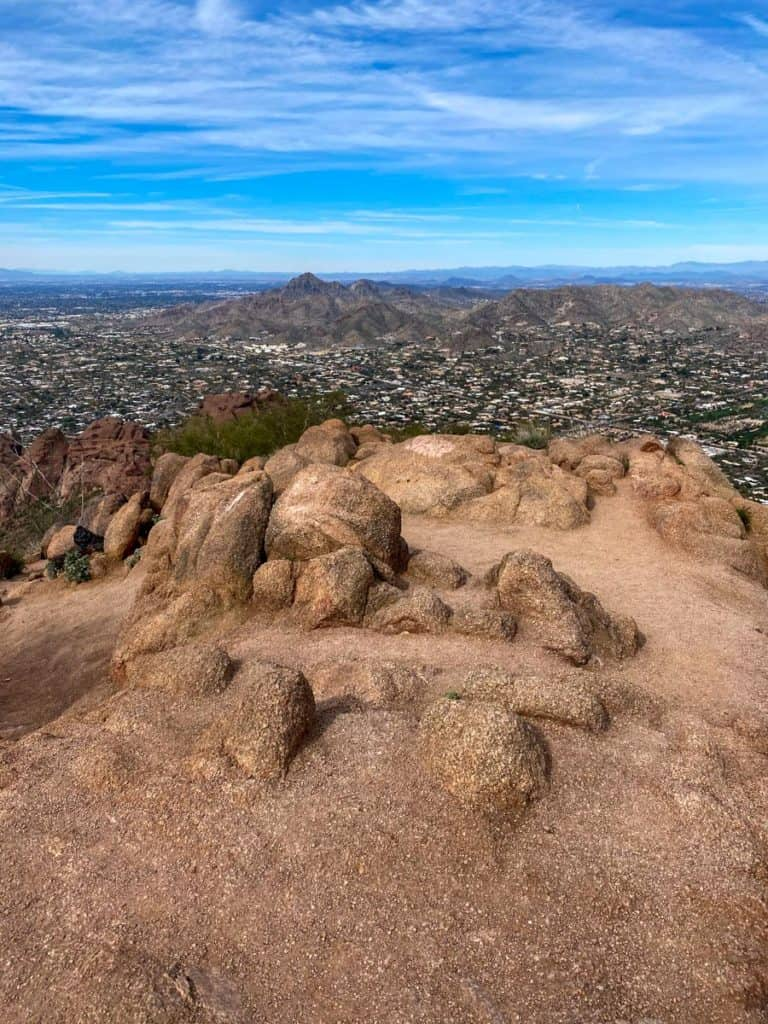 at the summit of camelback mountain