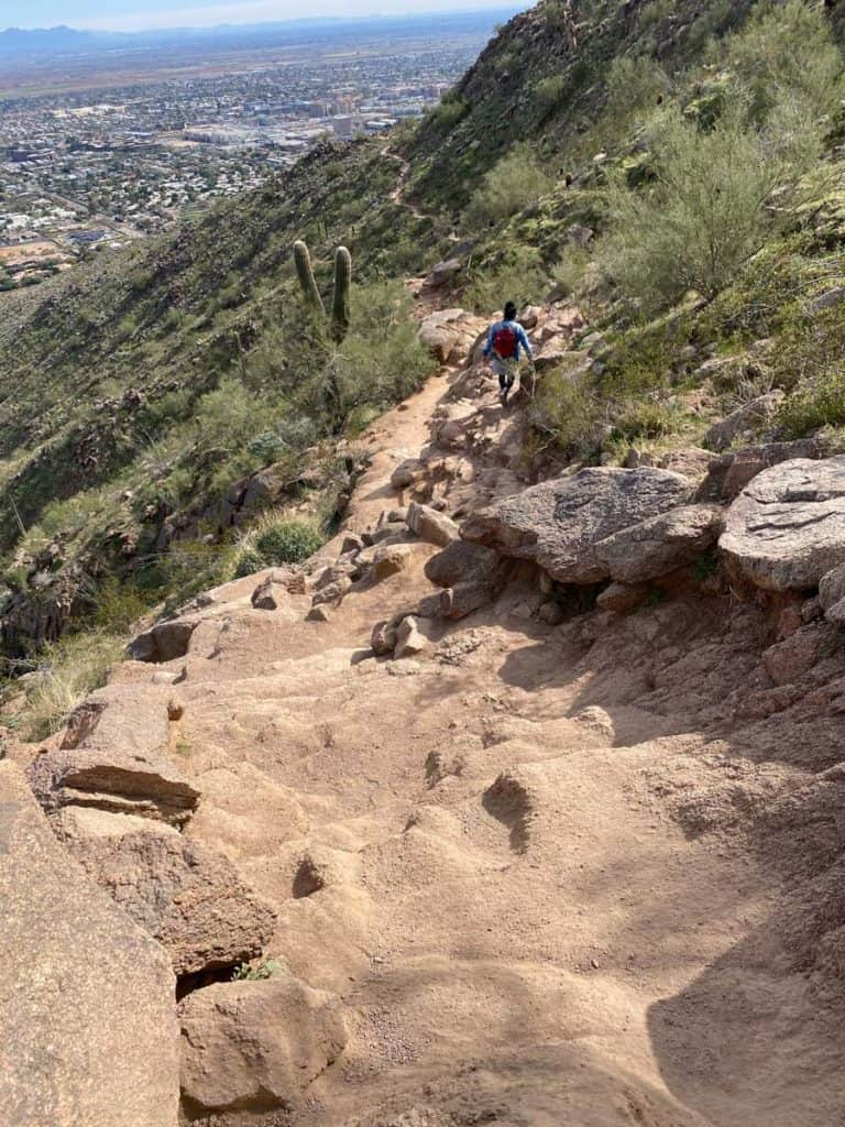 Hiking Camelback Mountain on the Cholla Trail