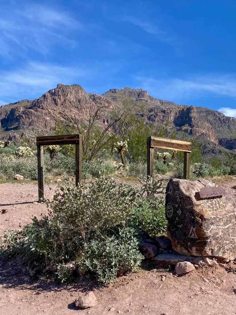 Lost Gold Mine + Hieroglyphic Trail Junction