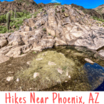 Looking for hiking trails near Phoenix, Arizona? Check out the Hieroglyphic Trail next to Lost Dutchman State Park. This gorgeous trail takes you into the Superstition Mountain Wilderness for a view of historic petroglyphs.