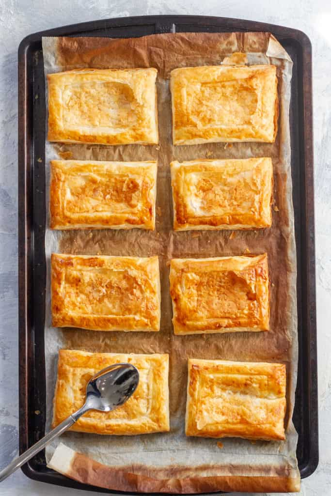 Indent the Baked Puff Pastry