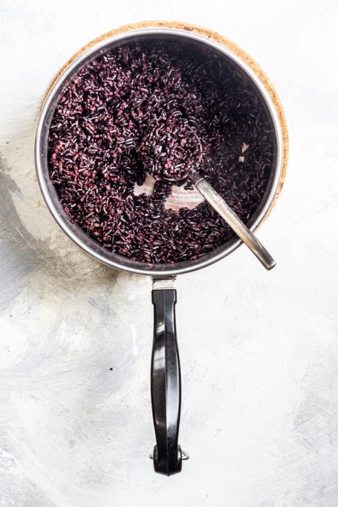 Cook Black Rice Until Tender + Fluffy