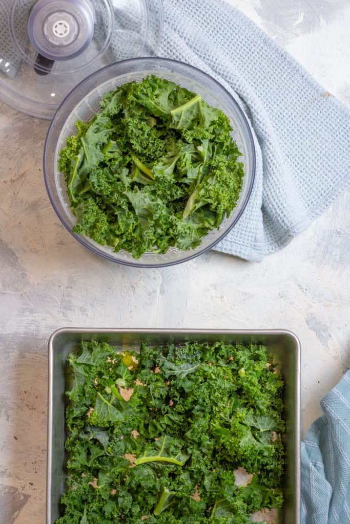 Dry Kale + Then Place on a Tray to Freeze