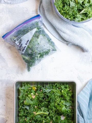 Move Kale to a Freezer Bag