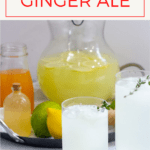 This easy homemade ginger ale is ready in minutes, and is made with ginger syrup, fresh lime juice, and sparkling water. Plus, try making it with cold ginger tea or ginger juice!