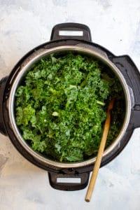 Add the Kale + Broth